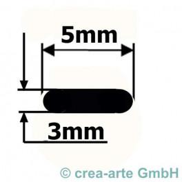 Borosilikatglas OVAL ca. 5x3mm 150cm_2883