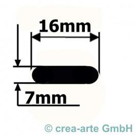 Borosilikatglas OVAL ca. 16x7mm 150cm Kg_2895