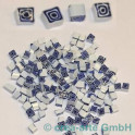 Murrine effetre bianco-blu, 50g.5x5mm