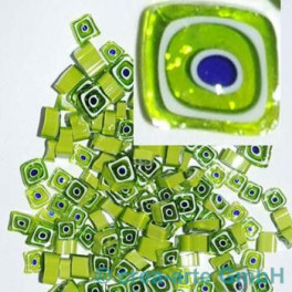 Murrine effetre blu-bianco-verde 50g. D=ca.4-8mm_2913
