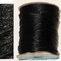 Fil en soie  env. 92m noir