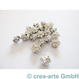 Metallperlen Blumen 6.5x6.5x4.5mm, 20Stück_2942