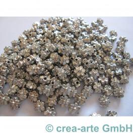 GP Metallperle Blume, nickelfarbig, 200 St._2943