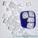 Murrine effetre bianco-critstallo 50g. 8-10mm