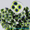 Murrine effetre blu-critstallo-verde  50g. ca.6-9m