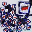 Murrine effetre rosso-critstallo-blu 50g. ca.6-9mm_2969