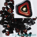 Murrine effetre rosso-critstallo-nero 50g. ca.6-9m_2970