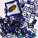 Murrine effetre giallo-critstallo-blu 50g. ca.6-9m