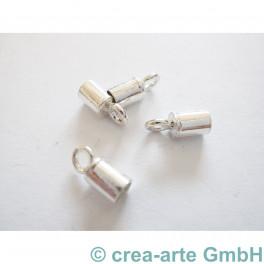 Endkappe Silber 925er einfach 4mm, 4 St._3011