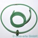 PVC rond 4mm percé 1m vert