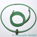 PVC rund hohl 4mm 1m grün