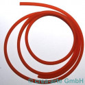 PVC rond 4mm percé 1m orange