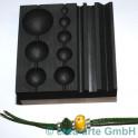 Perlenblock Graphit 120x120mm auf Holz