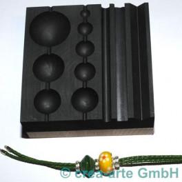 Perlenblock Graphit 120x120mm auf Holz_3038
