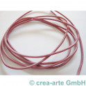 Lederband, ca 1.5mm, 1m rosa