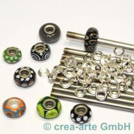 Perlmacherstäbe Chromstahl 5mm  10 Stk_305