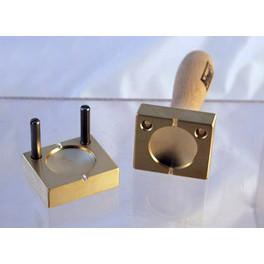 Perlenpresse Linse mit Rand 45mm_3163