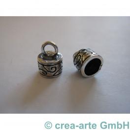 Endkappe Silber verziert 2 St._3212