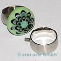 Edelstahl Rico-Design Fingerring 17.5mm, breit