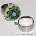Edelstahl Rico-Design Fingerring 16.5mm, 8mm