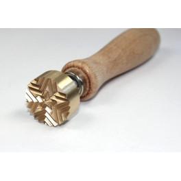 Perlenmacher Stempel mit Stern_3350