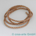 cuire tressés 4mm, marron