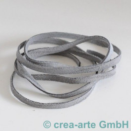 Wildlederband 5mm, 1m grau_3462
