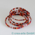 Textilband Retrofarben rot/orange 1m