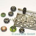 Perlmacherstäbe Chromstahl 5mm 6 Stück