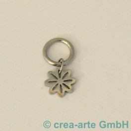 Edelstahlanhänger  Blume mit Ring, 21mm_3524