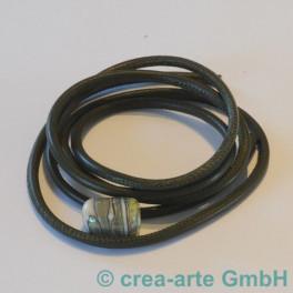 Nappaleder rund 4mm, 1m, moosgrün_3594