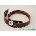 Chunk Armband dunkelbraun