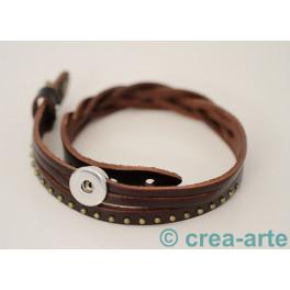 Chunk Armband dunkelbraun_3741