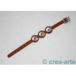 Chunk Armband hellbraun_3743