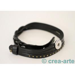Chunk Armband schwarz_3775