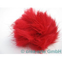 Bommel, Kaninchen, rot, 3cm