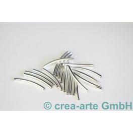 Metallröhrchen silberfarbig 20 Stk_3974