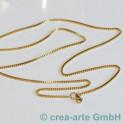 Edelstahlhalskette goldfarbig, 80 cm
