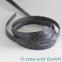 Flachlederband grau