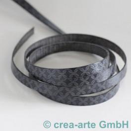 Flachlederband grau_4281