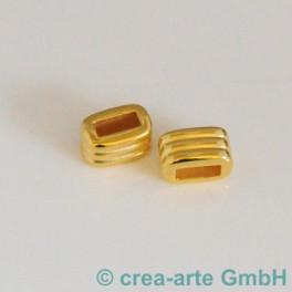 Rechteck gerillt, goldfarbig, 2 Stück_4302