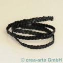 Lederband geflochten schwarz 1m
