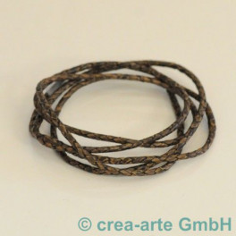 Lederband 3mm, vintage braun dunkel_4418