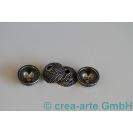 Perlkappen 925er Silber bolle 4St. 10mm_491