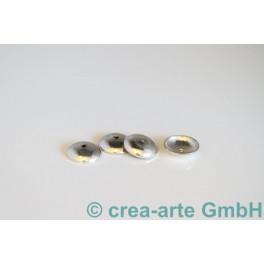 Perlkappen 925er Silber einfach, 12mm, 10 Stück_493