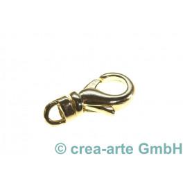 Karabiner mit Wirbel, 13mm, goldfarbig_4966