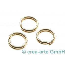 Spaltringe doppelt, 7mm, goldfarbig, 20 Stück_4998