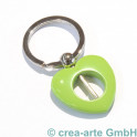 Herzschlüsselanhänger, grün