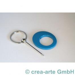 Schlüsselanhänger, türkis_5089