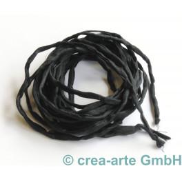 Seidenband Pongee schwarz, 3 Stück_5201
